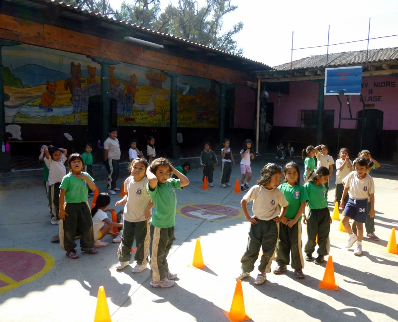 Recess in the courtyard