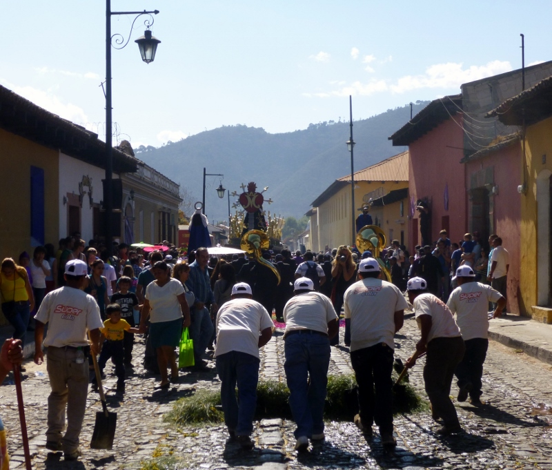 Street Sweepers after the Procession