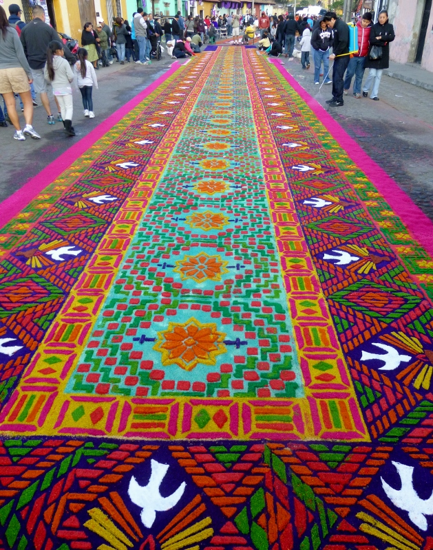 Antigua lent alfombras and semana santa no particular for Antigua alfombras