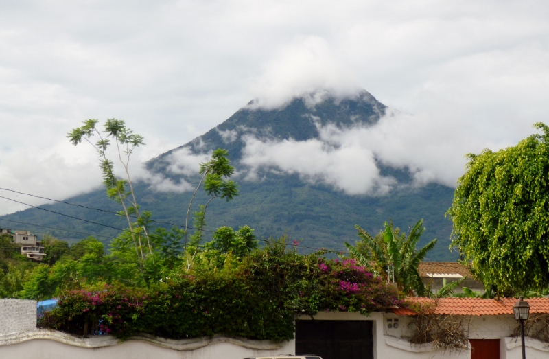 Volcan Agua -view from house