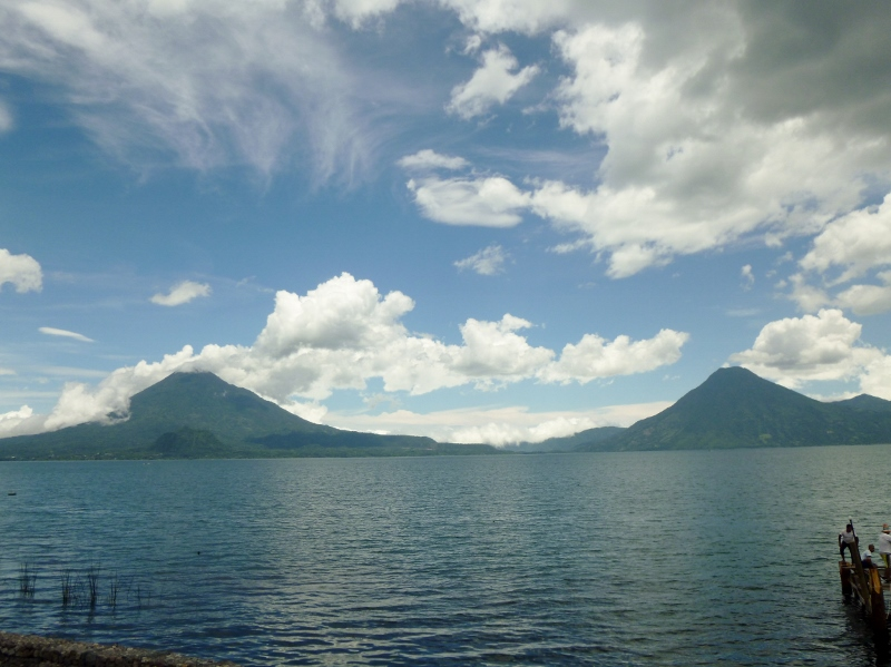 Volcanos Toliman (left) and San Pedro (right)