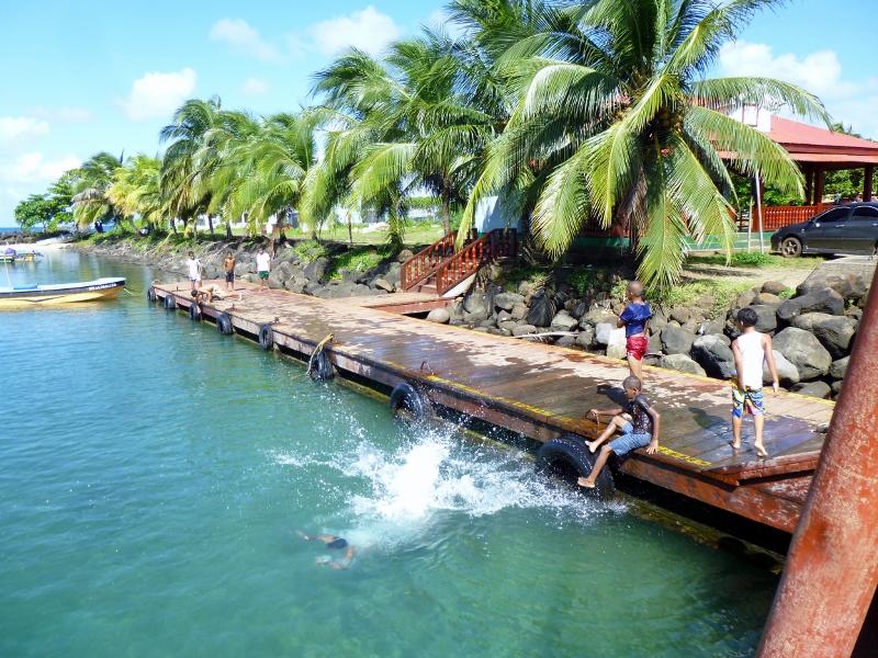 swimming at the municipal wharf