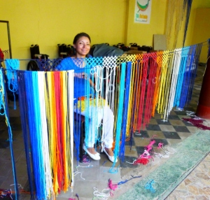 Just beginning the weaving