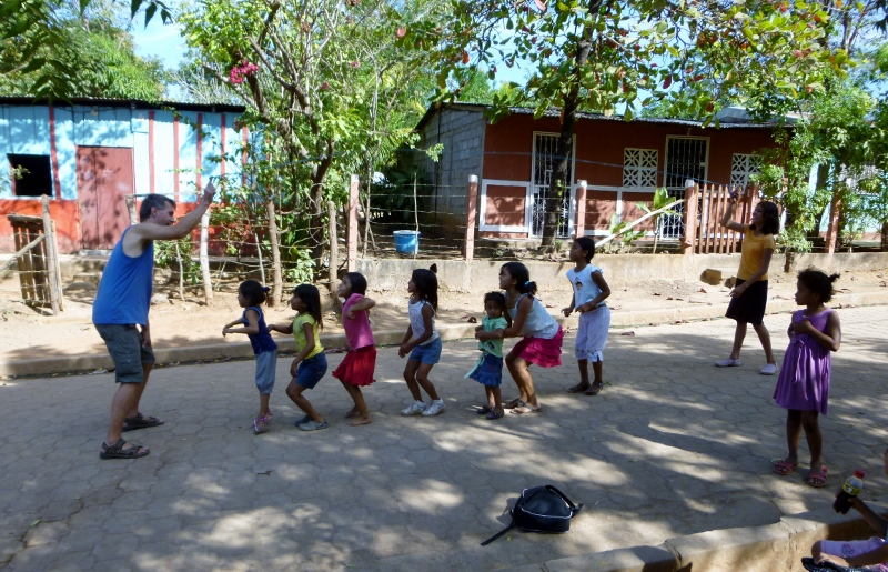 Jumping rope - Education Plus at Pantanal, Granada, NIC 2014