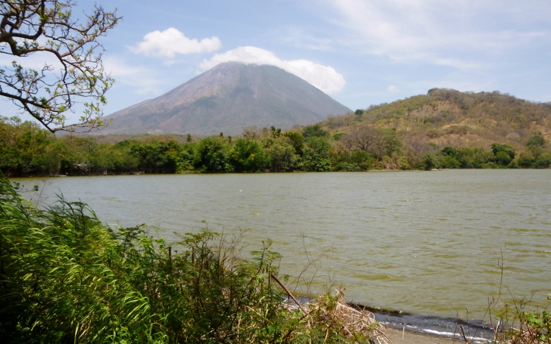 Lagoon with Volcano Concepcion
