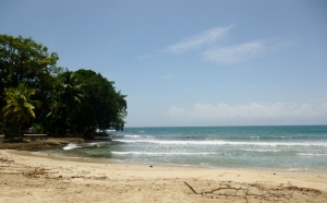 Golden beach at Cahuita National Park
