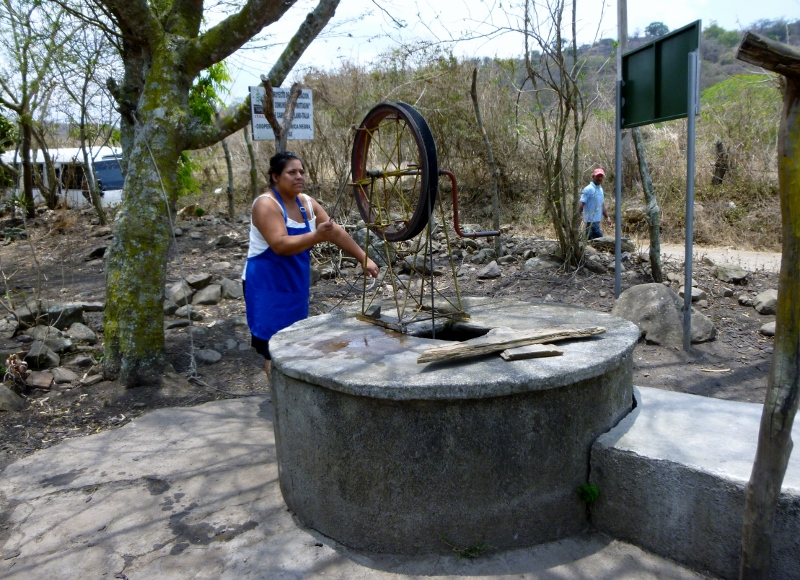 Hauling water from the well