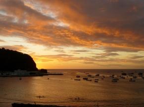 Sunset on the bay at San Juan del Sur