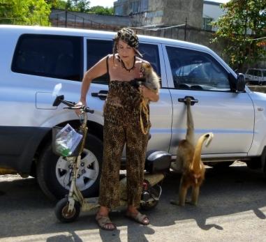 The monkey lady - San Juan del Sur,Nicaragua