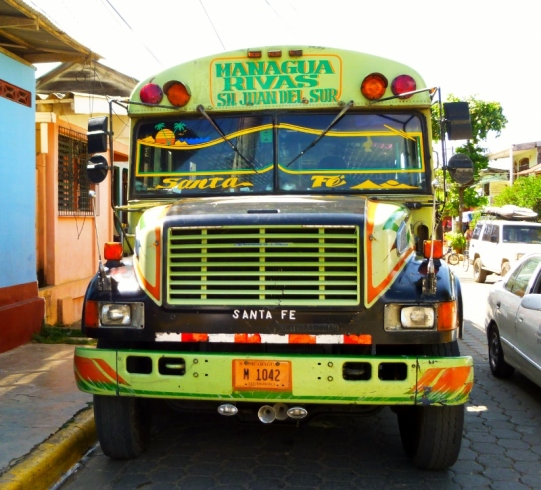 Chicken bus - San Juan del Sur to Rivas