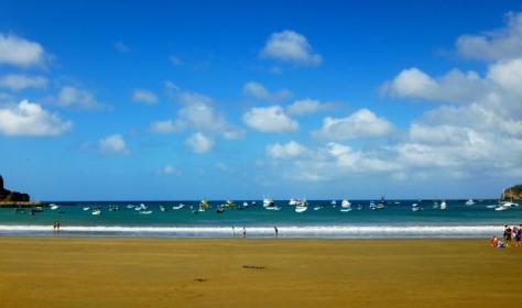 The golden beach at SJDS