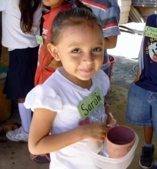 Sarahi before lunch at Pantanal - Granada, Nicaragua