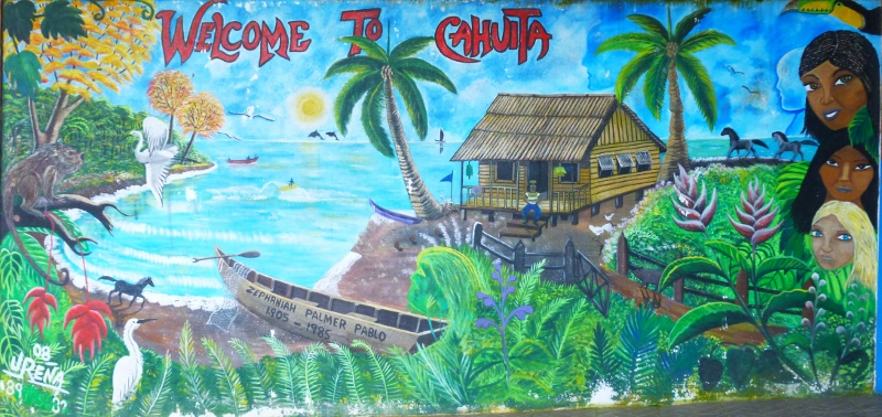 Bus station mural - Cahuita