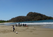 Playing on the beach - Playa Gigante