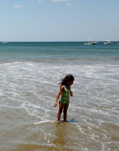 Braving the surf alone - Playa Gigante