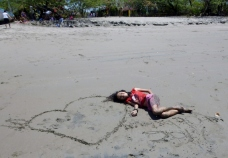 Keyla and I Love Nicaragua - Playa Gigante