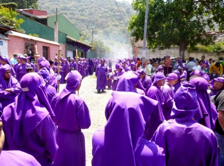 a sea of Lenten purple - Antigua