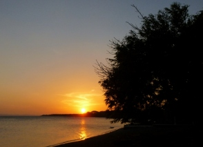 Sunset at Charco Verde, Ometepe