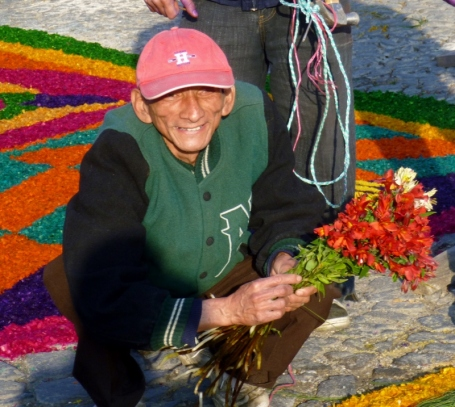 man with a smile - Lent procession - Antigua,Guatemala