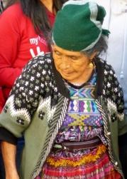 Mayan woman at Lent procession - Antigua,Guatemala