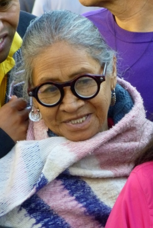 lady with glasses - Lent procession - Antigua,Guatemala