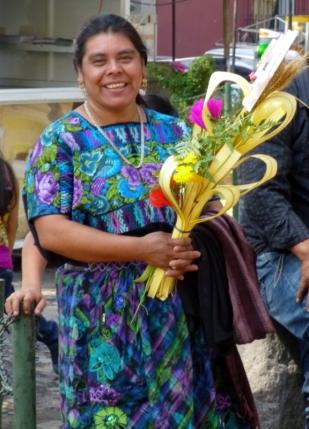 a smiling woman at La Merced - Antigua,Guatemala