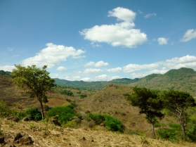 Country north of Matagalpa in the dry season