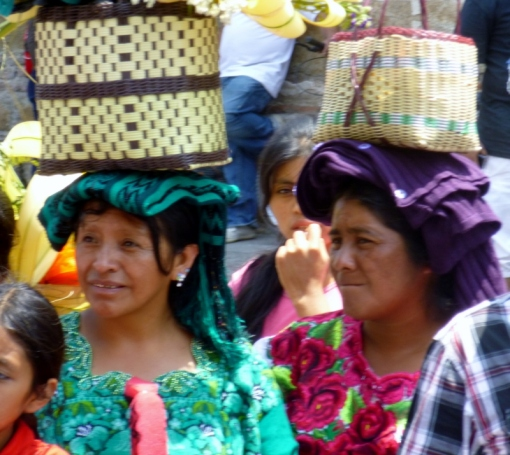 Mayan women in Antigua,Guatemala