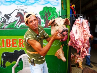 Pick of the litter - meat market at Jinotega,Nicaragua