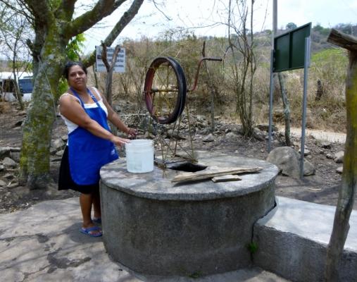 woman at the well - near Jinotega,Nicaragua