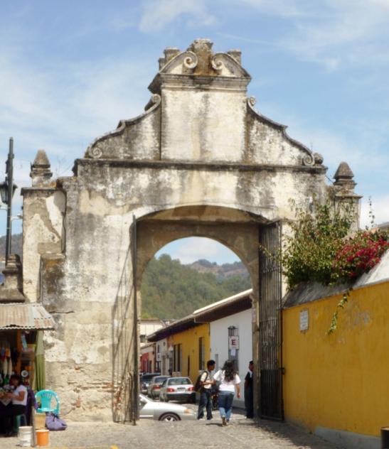 A entrance gate to El Templo San Francisco el Grande - Antigua