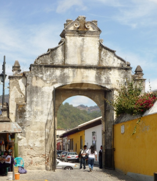 A entrance gate to El Templo San Francisco el Grande - Antigua