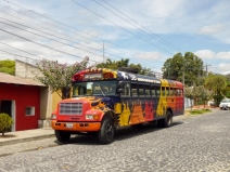 A fancy chicken bus - Antigua
