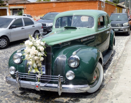 A 1941 Packard at a wedding - Antigua