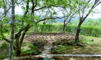 a rock labyrinth at Panacea yoga retreat - Tamarindo