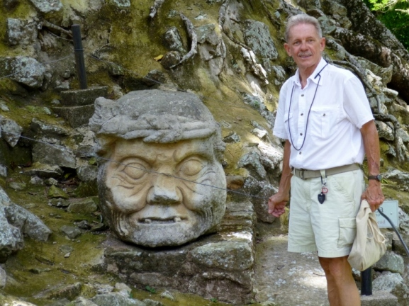 The Old Man's head - Copan Mayan Ruins
