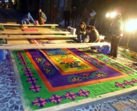 Alfombra - sawdust carpet for Lent procession - Antigua