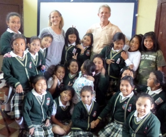 with one of our English classes - Antigua