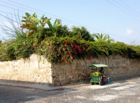 Street Scene in Antigua - early morning
