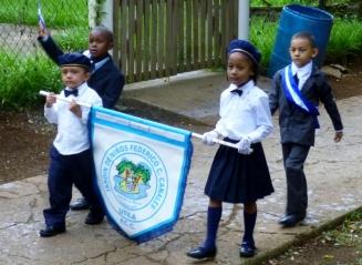 Honduran Independence Day parade - Utila