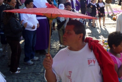 a dashing dude at a Lent Procession -Antigua,Guatemala