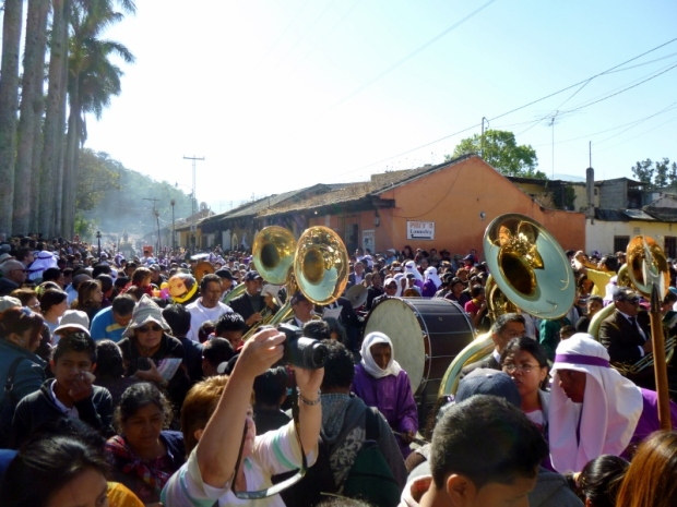 the band and parade - Lent procession - Antigua