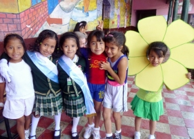 dressed up for assembly - Antigua,Guatemala