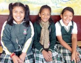 three students - Antigua,Guatemala