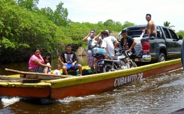 Party down! on river near Monterico,Guatemala