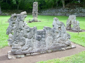 A portion of an altar - Copan Mayan Ruins,Honduras