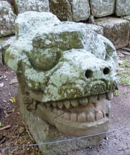 Statuary in East Courtyard - Copan Mayan Ruins