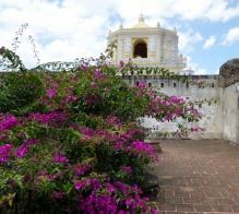 Convent ruins in Antigua - La Merced in the background.