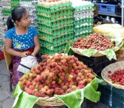 A pensive young shopkeeper - Antigua,Guatemala