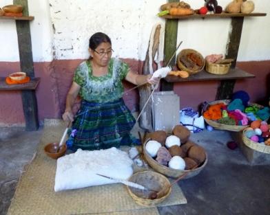 Making thread from cotton- San Juan La Laguna